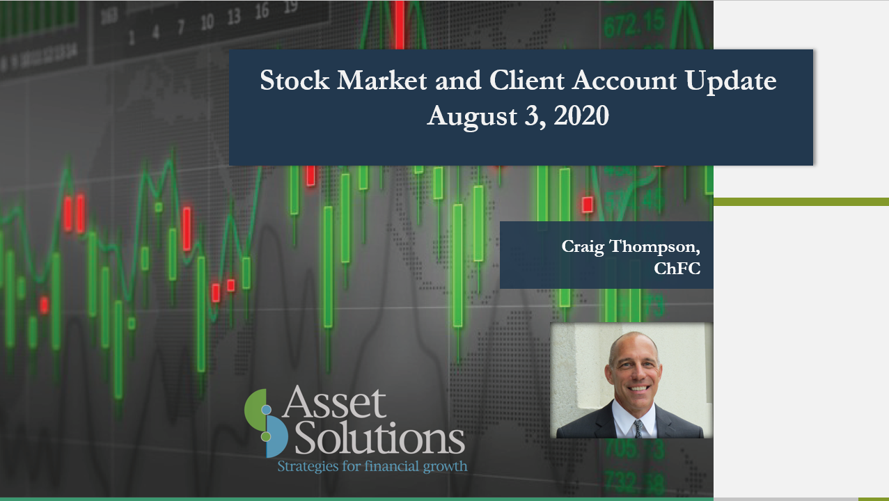 Stock Market and Account Update – August 3, 2020