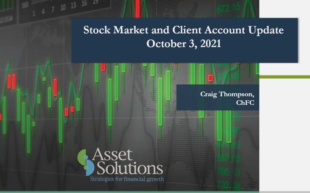 Stock Market and Account Update
